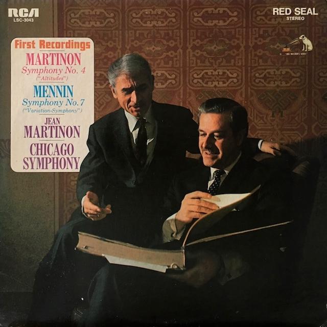 マルティノンの自作自演/交響曲第4番ほか  米RCA M1701 LP レコード