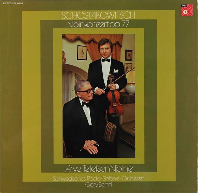 テレフセン&ベルティーニのショスタコーヴィチ/ヴァイオリン協奏曲第1番 独BASF 3288 LP レコード