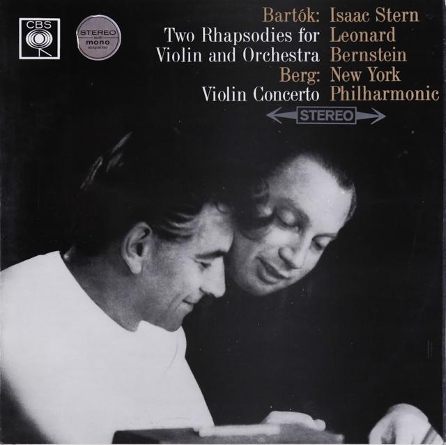 スターン&バーンスタインのベルク/ヴァイオリン協奏曲 英CBS 3288 LP レコード