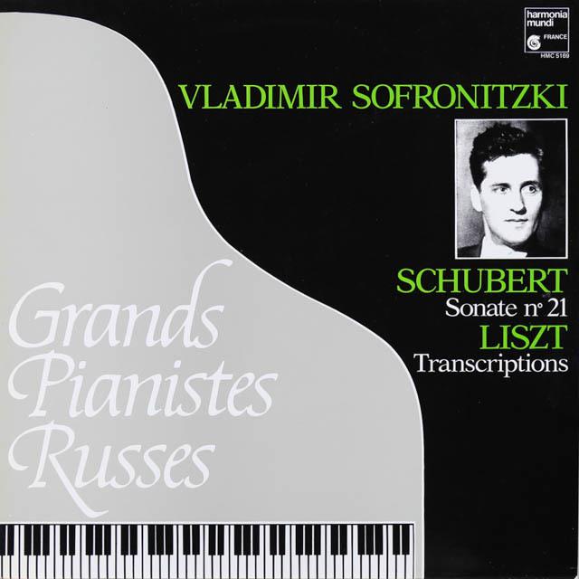 ソフロニツキーのシューベルト/ピアノソナタ第21番 仏HM 3289 LP レコード