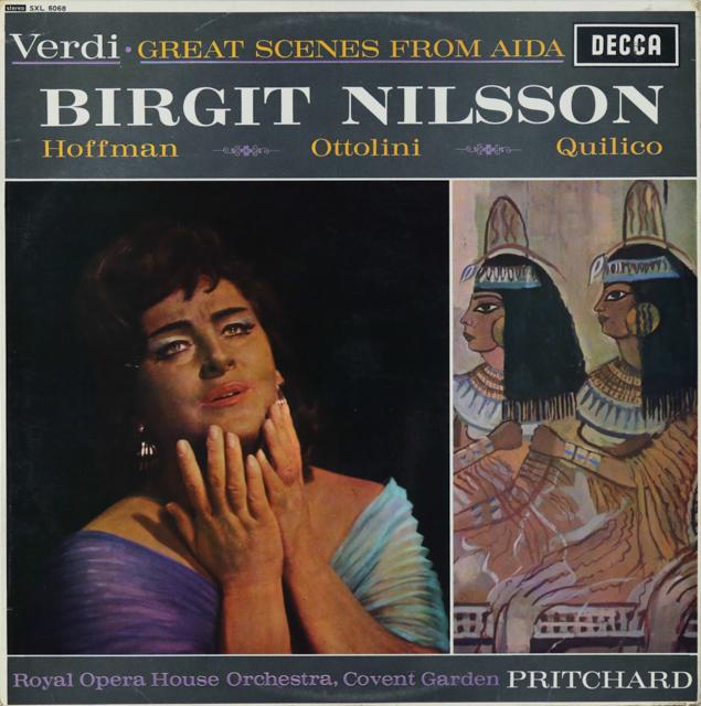 ニルソンのヴェルディ/アイーダ名場面集 英DECCA 3289 LP レコード