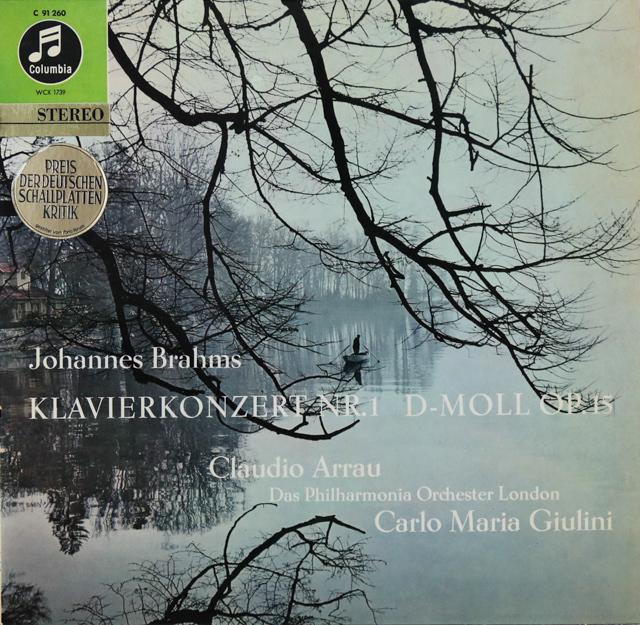 アラウ&ジュリーニのブラームス/ピアノ協奏曲第1番 独Columbia 3289 LP レコード