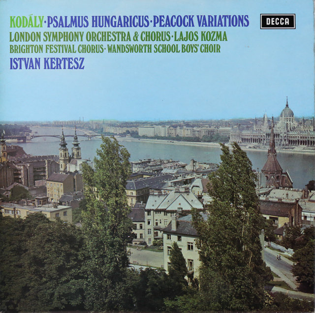 【オリジナル盤】 ケルテスのコダーイ/「ヘンガリー詩篇」ほか 英DECCA 3289 LP レコード