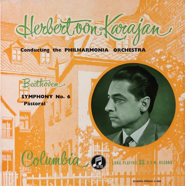 カラヤンのベートーヴェン/交響曲第6番「田園」 オリジナル盤 英Columbia 2732 LP レコード