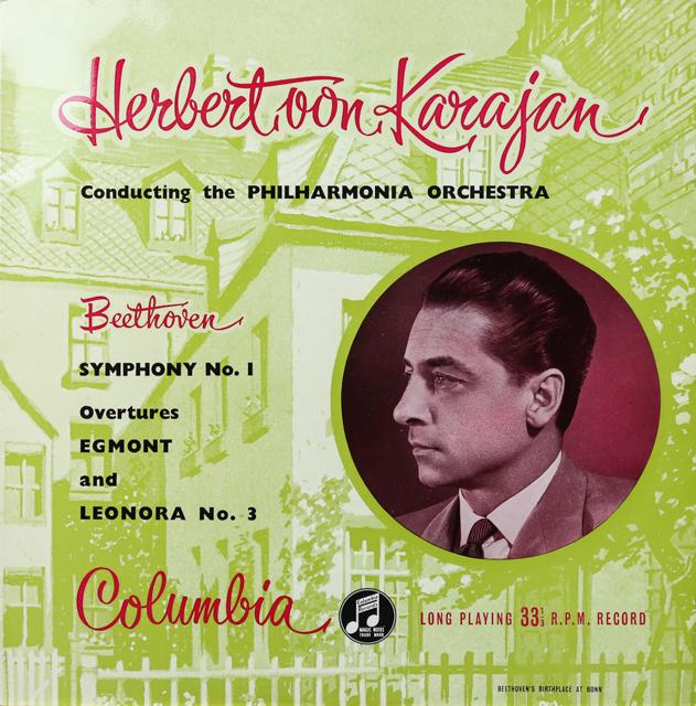 カラヤンのベートーヴェン/交響曲第1番ほか オリジナル盤 英Columbia 2732 LP レコード