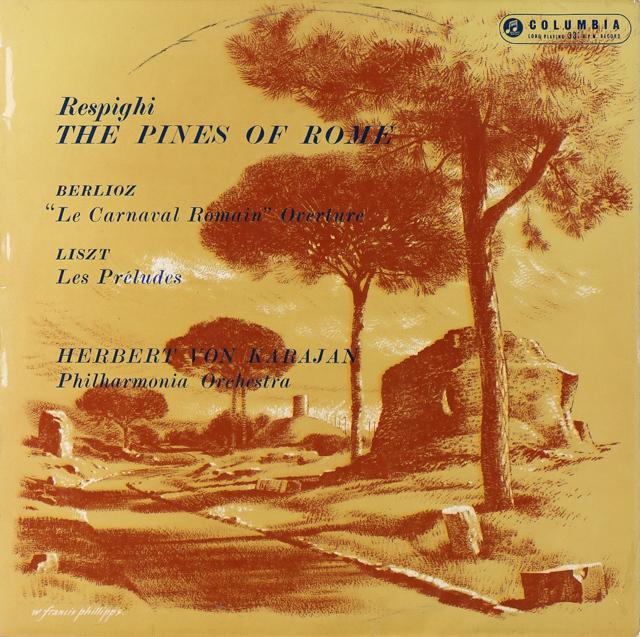 カラヤンのレスピーギ/「ローマの松」ほか オリジナル盤 英Columbia 2732 LP レコード