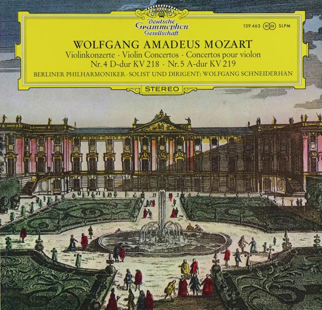 シュナイダーハンのモーツァルト/ヴァイオリン協奏曲第4&5番 独DGG 3289 LP レコード