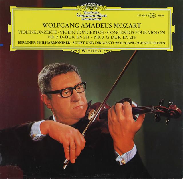 シュナイダーハンのモーツァルト/ヴァイオリン協奏曲第2&3番 独DGG 3289 LP レコード