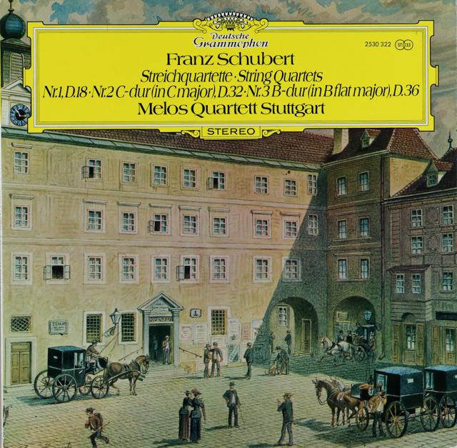 メロス四重奏団のシューベルト/弦楽四重奏曲第1~3番 独DGG 3289 LP レコード