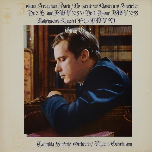 グールドのバッハ/ピアノ協奏曲第2&4番ほか 独CBS 3289 LP レコード