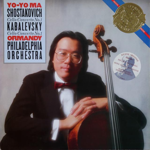 ヨーヨー・マ&オーマンディのショスタコーヴィチ/チェロ協奏曲第1番 蘭CBS 2734 LP レコード