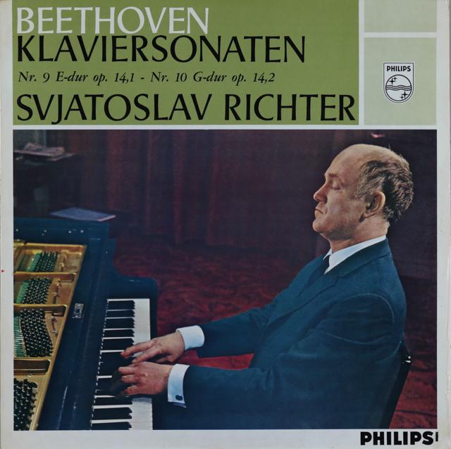 【モノラル】 リヒテルのベートーヴェン/ピアノソナタ第9&10番 蘭PHILIPS 3289 LP レコード