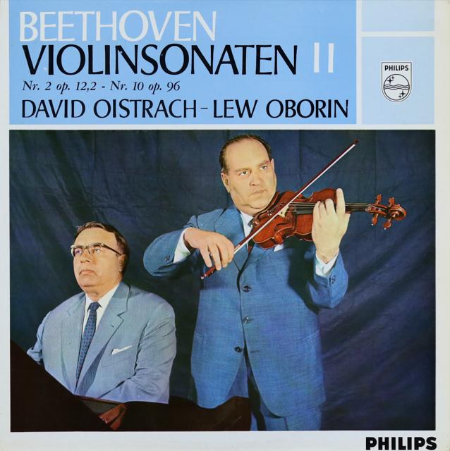 【モノラル】 オイストラフ&オボーリンのベートーヴェン/ヴァイオリンソナタ第2&10番 蘭PHILIPS 3289 LP レコード