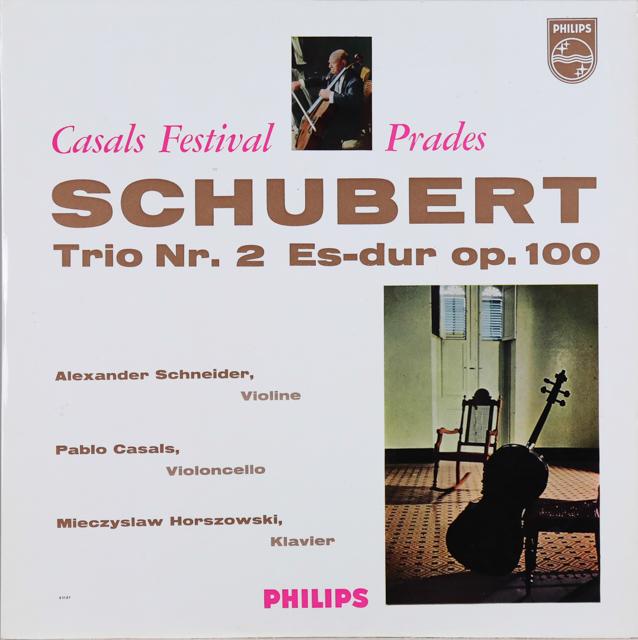 カザルスらのシューベルト/ピアノ三重奏曲第2番 独PHILIPS 2734 LP レコード