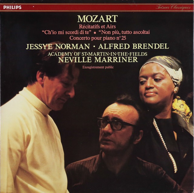 ブレンデル、ノーマン&マリナーのモーツァルト/「どうしてあなたを忘れられよう」ほか 仏PHILIPS 2734 LP レコード