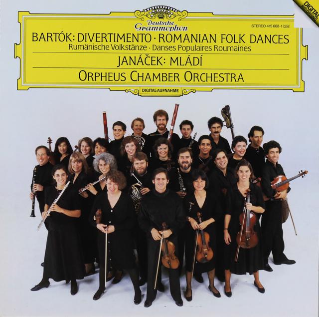 オルフェウス室内管弦楽団のバルトーク/「ディヴェルティメント」ほか 独DGG 2735 LP レコード