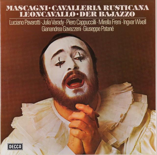 パヴァロッティの「カヴァレリア」&「道化師」 独DECCA 2735 LP レコード