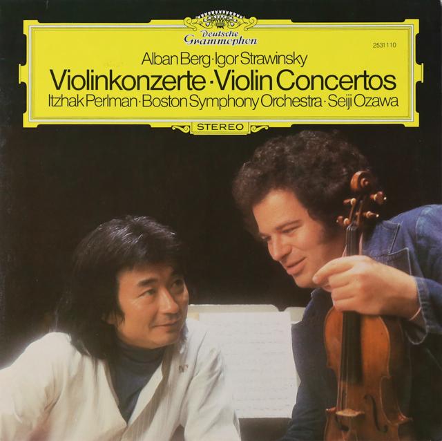 パールマン&小澤のストラヴィンスキー&ベルク/ヴァイオリン協奏曲 独DGG 3226 LP レコード