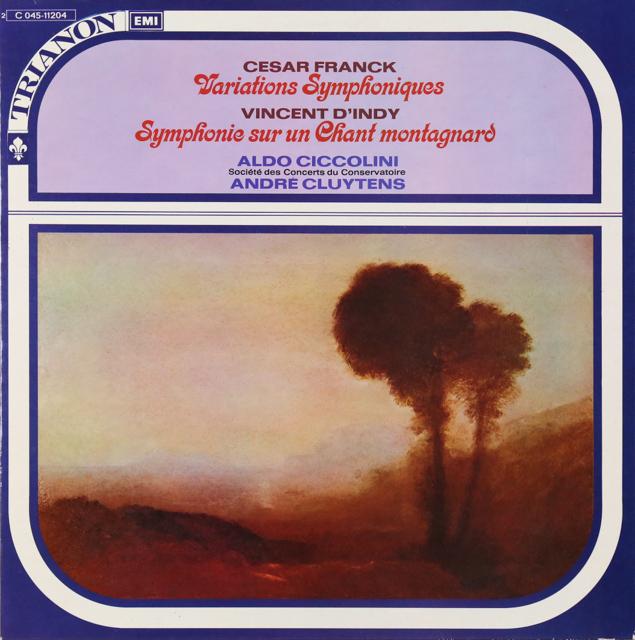 チッコリーニ&クリュイタンスのフランク/交響的変奏曲 仏TRIANON 3226 LP レコード
