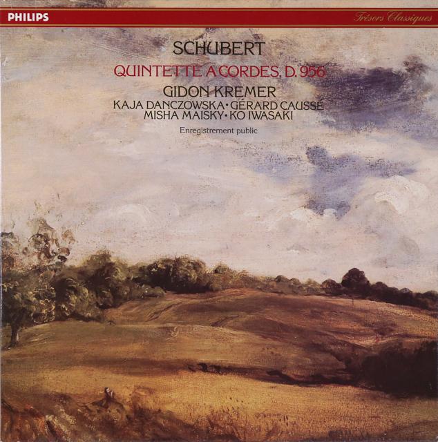 クレーメルらのシューベルト/弦楽五重奏曲 仏PHILIPS 3226 LP レコード