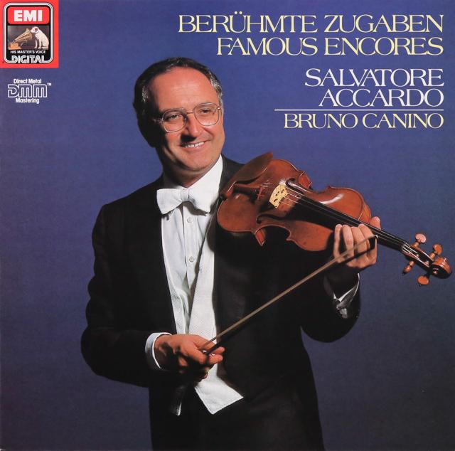 アッカルドの「ヴァイオリン小品集」 独EMI 2736 LP レコード