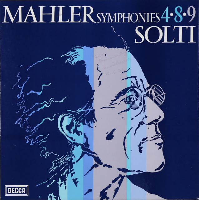 ショルティのマーラー/交響曲第4、8&9番 英DECCA 3226 LP レコード