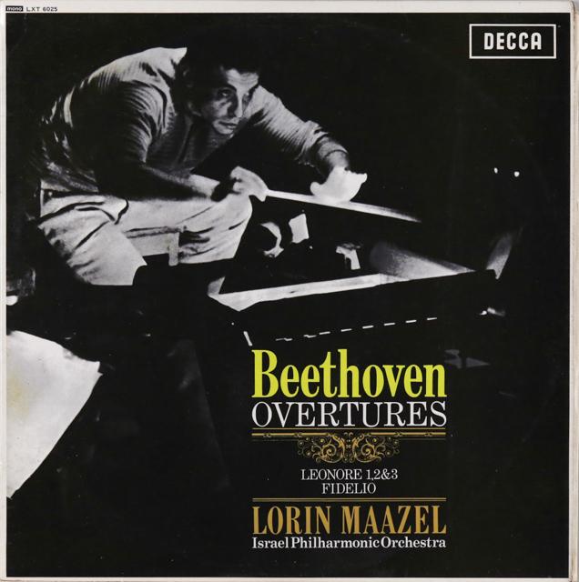 【モノラル】 マゼールのベートーヴェン/序曲集 英DECCA 3226 LP レコード