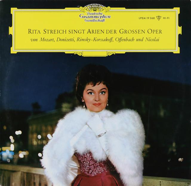 【モノラル】 シュトライヒの「オペラアリア集」 独DGG 3226 LP レコード