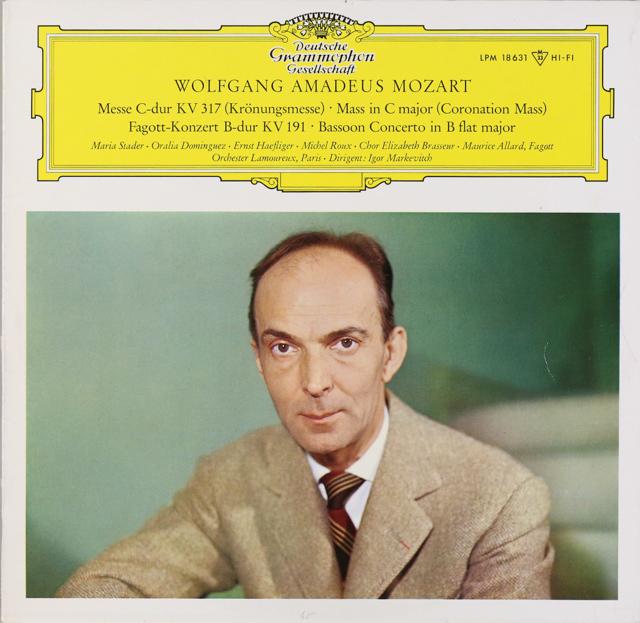 【モノラル】 マルケヴィチのモーツァルト/「戴冠ミサ」ほか 独DGG 3226 LP レコード