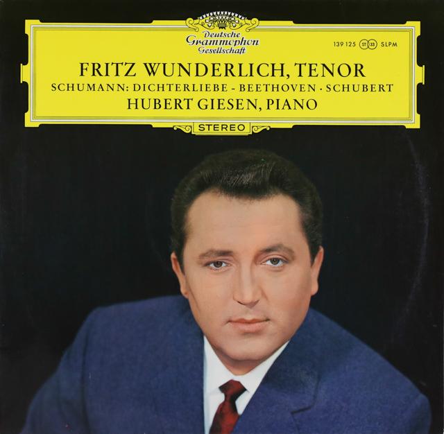 ヴンダーリヒのシューマン/「詩人の恋」ほか 独DGG 2742 LP レコード
