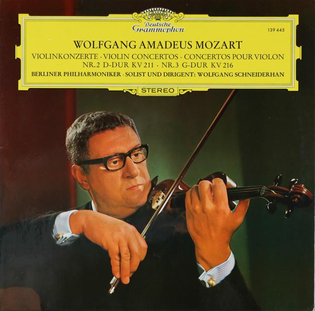 シュナイダーハンのモーツァルト/ヴァイオリン協奏曲第2&3番 独DGG 3288 LP レコード