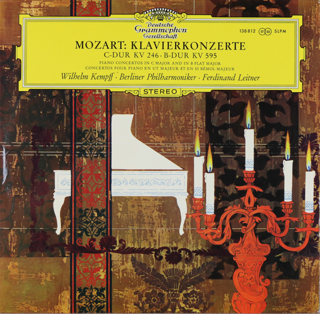 【独最初期盤】 ケンプ&ライトナーのモーツァルト/ピアノ協奏曲第8&27番 独DGG 3288 LP レコード