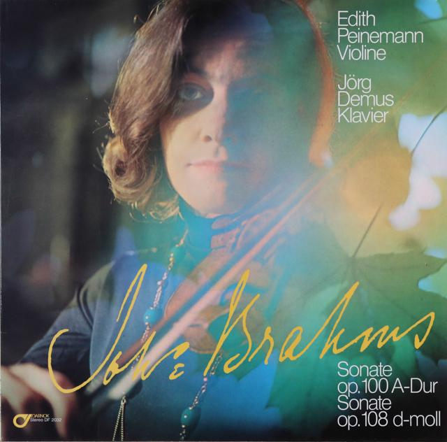 パイネマン&デームスのブラームス/ヴァイオリンソナタ(全3曲)ほか スイスDARNOK 2746 LP レコード