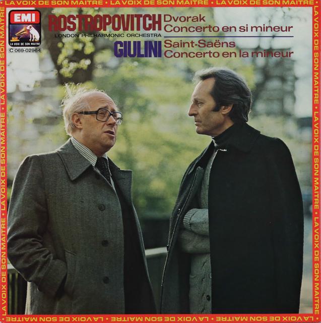 ロストロポーヴィチ&ジュリーニのドヴォルザーク/チェロ協奏曲ほか 仏EMI(VSM) 3287 LP レコード