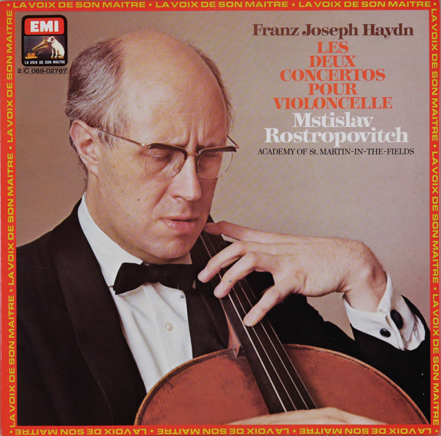 ロストロポーヴィチのハイドン/チェロ協奏曲第1&2番 仏EMI(VSM) 3287 LP レコード