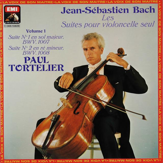 トルトゥリエのバッハ/無伴奏チェロ組曲全集(全6曲) 仏EMI(VSM) 2746 LP レコード
