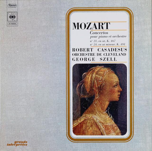 カサドシュ&セルのモーツァルト/ピアノ協奏曲第21&24番 仏CBS 2746 LP レコード