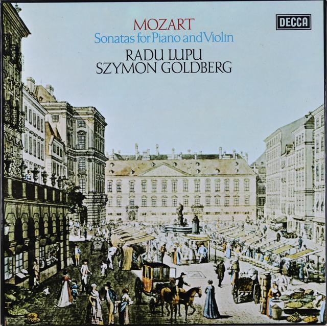 ゴールドベルク&ルプーのモーツァルト/ヴァイオリンソナタ集 英DECCA 2737 LP レコード
