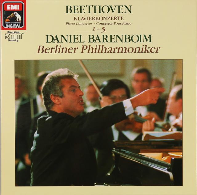 バレンボイムのベートーヴェン/ピアノ協奏曲全集 独EMI 3288 LP レコード