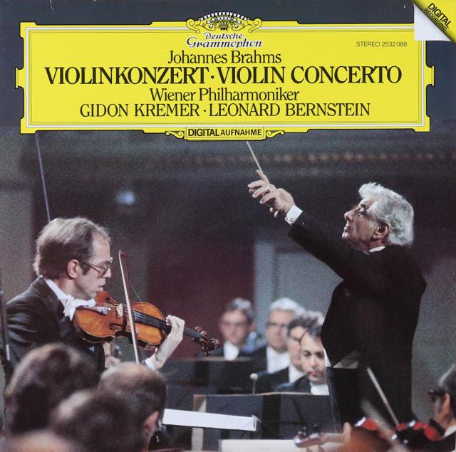 クレーメル&バーンスタインのブラームス/ヴァイオリン協奏曲   独DGG   2737 LP レコード