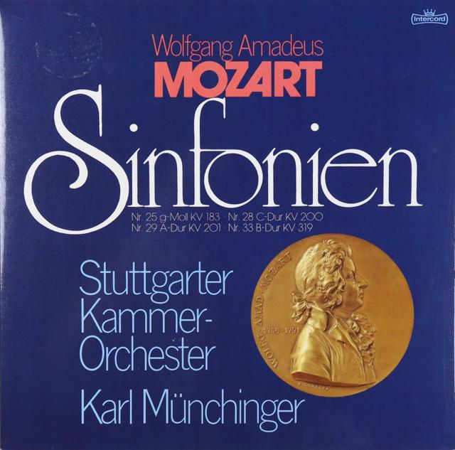 ミュンヒンガーのモーツァルト/交響曲第25、28、29&33番 独Intercord 2737 LP レコード