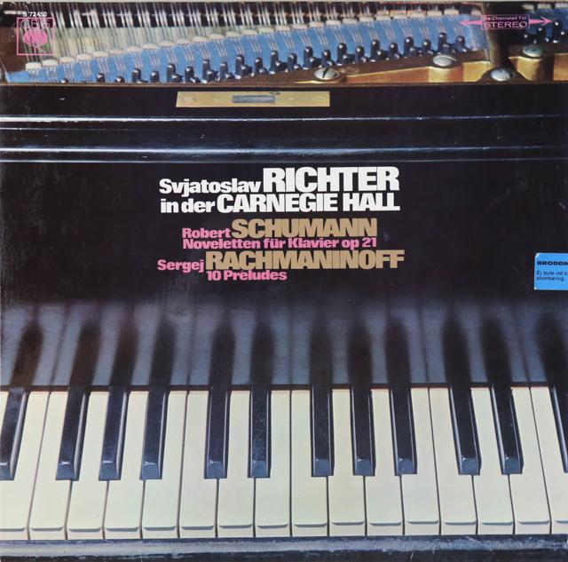 リヒテルのカーネギーホール・ライヴ(3) ラフマニノフ/前奏曲ほか 独CBS 2737 LP レコード