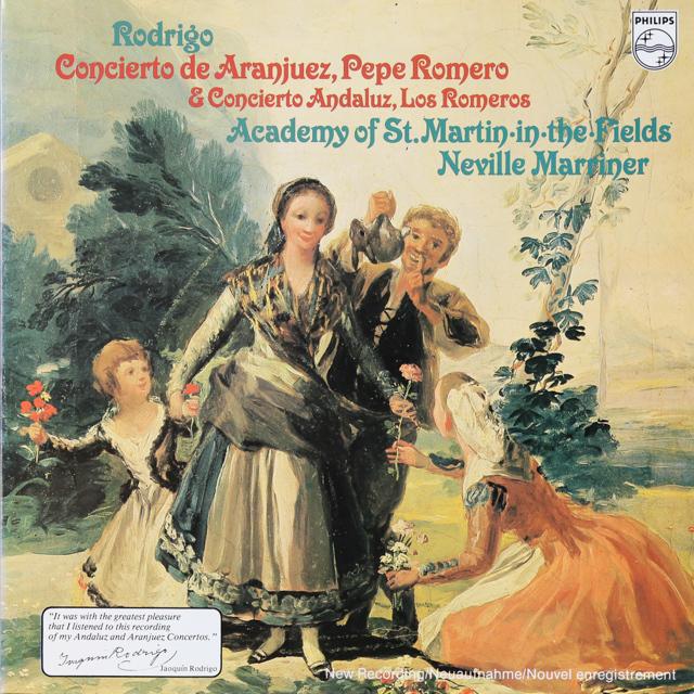 ペペ・ロメロ&マリナーのロドリーゴ/アランフエス協奏曲ほか 蘭PHILIPS 3288 LP レコード