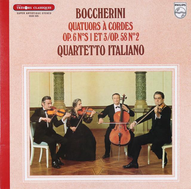 イタリア四重奏団のボッケリーニ/弦楽四重奏曲集  仏PHILIPS 2737 LP レコード