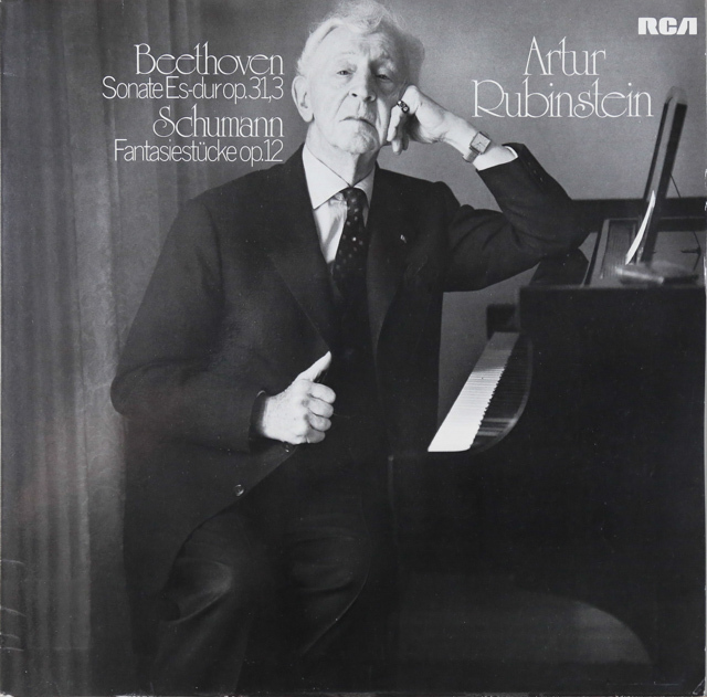 ルービンシュタインのベートーヴェン/ピアノソナタ第18番ほか 独RCA 3288 LP レコード