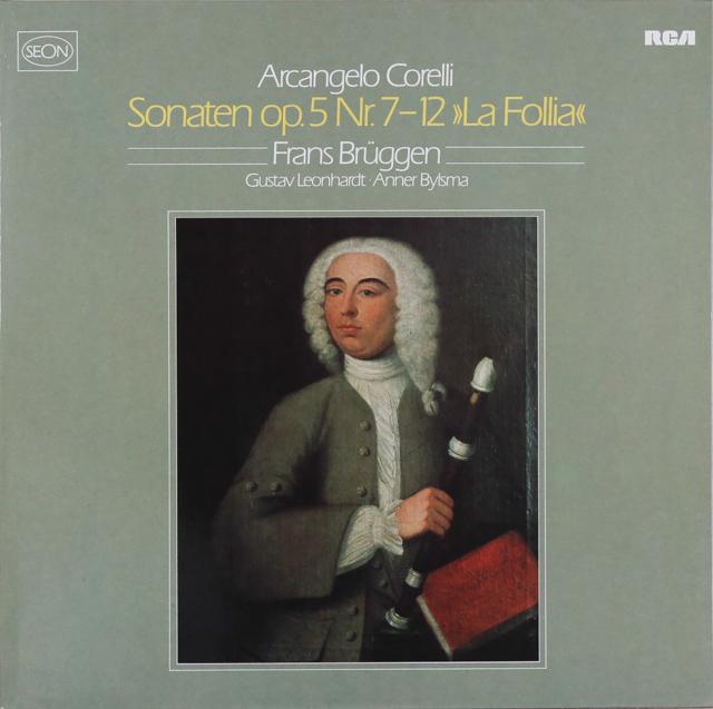 ブリュッヘン、レオンハルト&ビルスマのコレッリ/ヴァイオリン・ソナタ 独RCA(SEON) 2739 LP レコード