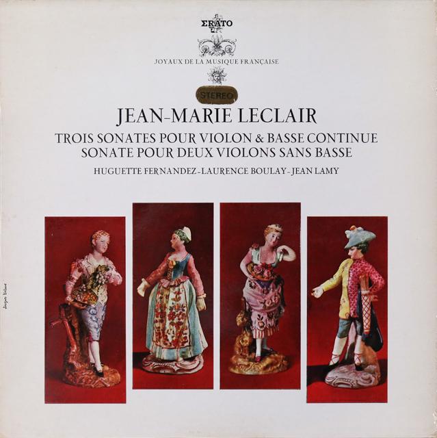 フェルナンデスらのルクレール/トリオ・ソナタ 仏ERATO 3288 LP レコード