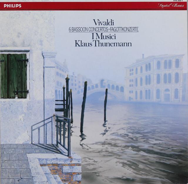 トゥーネマン&イ・ムジチのヴィヴァルディ/ファゴット協奏曲集 蘭PHILIPS 3288 LP レコード
