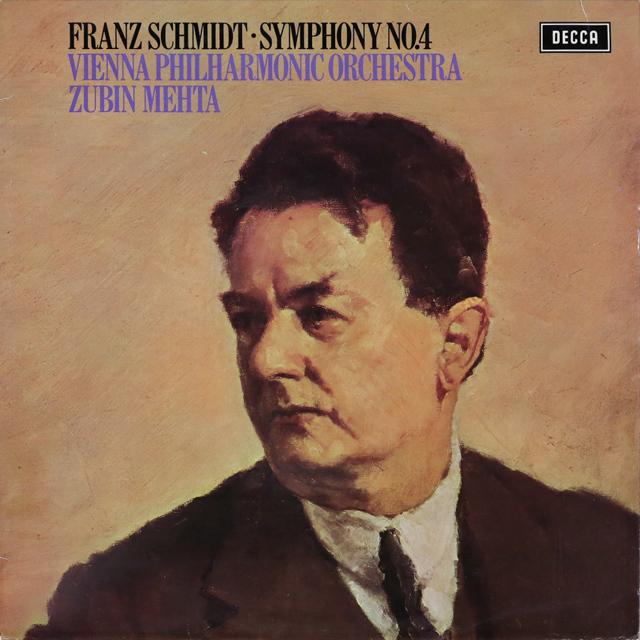 【オリジナル盤】 メータのF.シュミット/交響曲第4番 英DECCA 3288 LP レコード