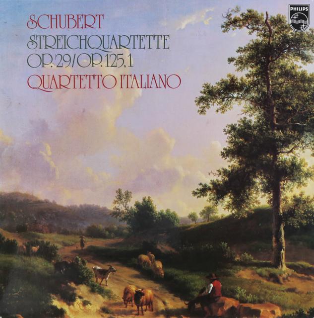 イタリア四重奏団のシューベルト/弦楽四重奏曲第10&13番 蘭PHILIPS 2740 LP レコード